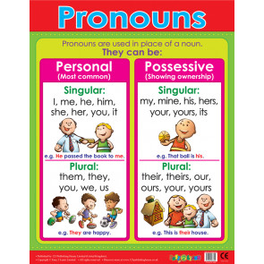 School Posters | Pronouns Literacy Reference Wall Charts