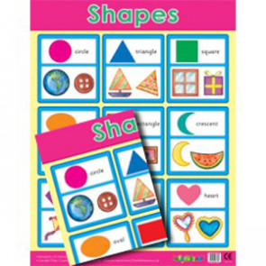 School Posters | Basic Shapes Reference Wall Charts for the Classrooom