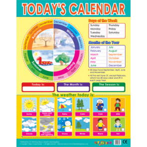 Educational Posters | Seasons, Weather Daily Calendar Learning Chart
