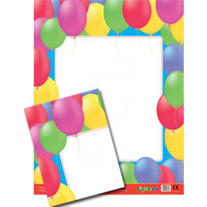 Posters | Balloons Border Wipe Off Poster for Notices / Messages