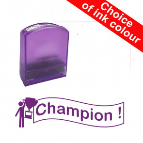 Teacher Stamps | Champion! Self-inking. Reinkable Value Stamp Range.