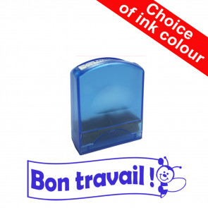 Teacher Stamps | Bon travail ! Self-inking French School Stamp.