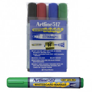Whiteboard Markers | Artline EK517 - Wallet Set 4 Pens
