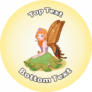 Personalised School Stickers | Fairy Wishes Design Custom Standard and Scented Stickers