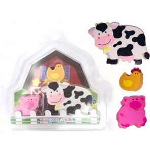 Party Gifts | Happy Farm Eraser Set