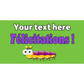 Personalised School Stickers | Félicitations ! French Marking! Design Custom Standard Stickers