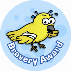 School Stickers | Bravery Award Sticker for Children