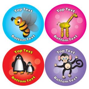 Personalised Stickers   Alien Design Custom Standard / Scented Stickers.