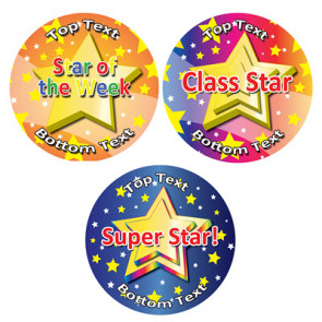 Personalised School Stickers | Mixed Star Rewards! Design Custom Standard and Scented Stickers