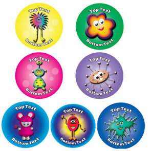 Personalised School Stickers | Alien Fun! Design Custom Standard and Scented Stickers