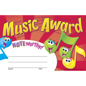 School Certificates | Music Award Certificates x 30