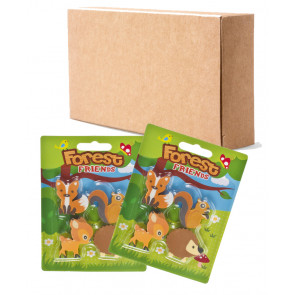 Bulk Kids Stationery | Cute Forest Friends Eraser Sets