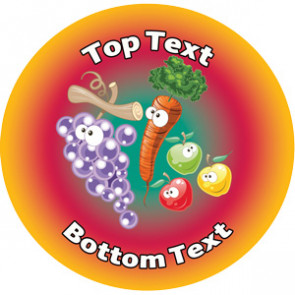 Personalised School Stickers | 5 a Day Fruit and Veg! Design Custom Standard and Scented Stickers