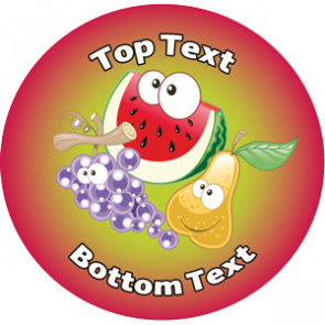 Personalised School Stickers | Funky Fruit! Design Custom Standard and Scented Stickers