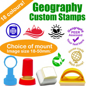 Custom Stamps | Personalised Stamps for Geography Lessons