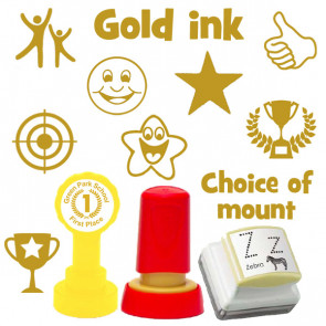 Custom Stamps | Gold ink Selection