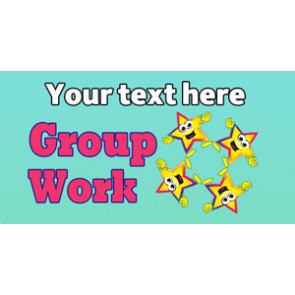 Personalised School Stickers | Group Work! Design Custom Standard Stickers