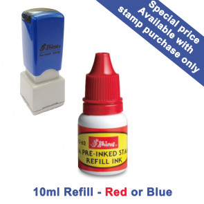 Shiny HS Teacher Stamps | OA 10ml Refill Ink - Red or Blue