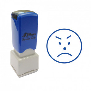 Sad Face Design Self-Inking Stamp. 11mm, Self-inking.