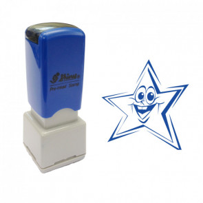 Teacher Stamps | Smiley Star Self-Inking Stamp 11mm