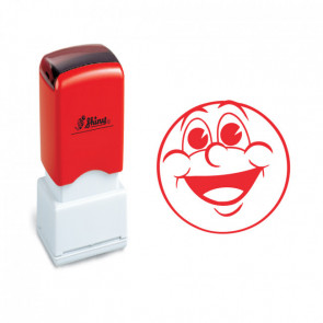 School Stamps | Big Smiles! Happy Face Stamp. 11mm, Self-inking.