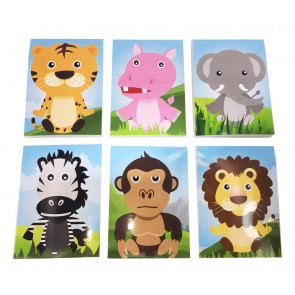 Class Gifts | 12 x Jungle Animals Mini Notepads