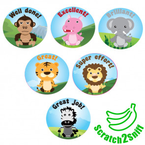 Smelly Stickers | Jungle Friends Scented Reward Stickers