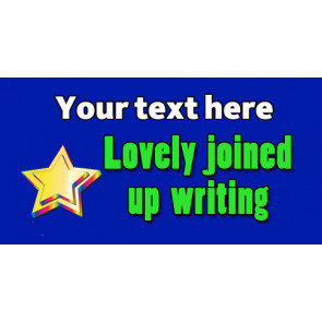 Personalised School Stickers | Lovely joined up writing! Design Custom Standard Stickers