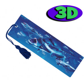 3D Bookmarks | Shark Attack Bookmark For Party Bags & Class Gifts.