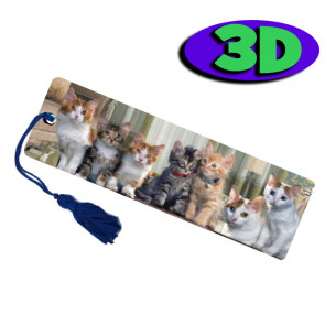 3D Bookmarks | Cute Cats Bookmark For Party Bags & Class Gifts