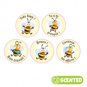 Scented Reward Stickers | French Smelly Stickers, Bee Friends.