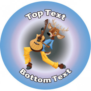 Personalised School Stickers | Groovy Guitar Music! Design Custom Standard and Scented Stickers