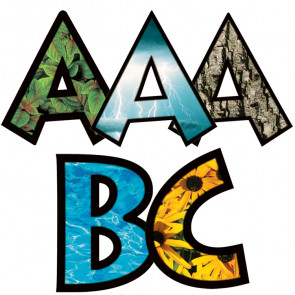 Natural Elements Alphabet Letters