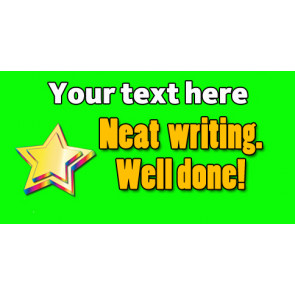 Personalised School Stickers | Neat writing, Well Done! Design Custom Standard Stickers