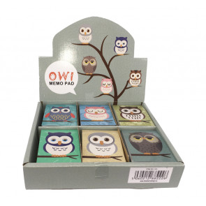 Bulk Stationery | Owl Notepads/Memos.  Low Cost Stationery