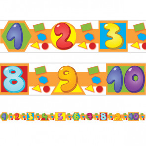 Classroom Borders / Trimmers | Numbers, Shapes and Colours Class Display Borders