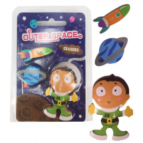 Class / Party Gifts | Outer Space Eraser Set.
