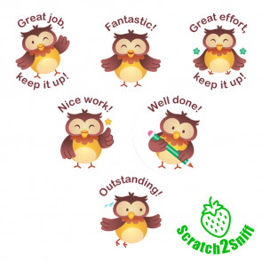 Smelly Stickers | Owl Classmates Scented Reward Stickers - English