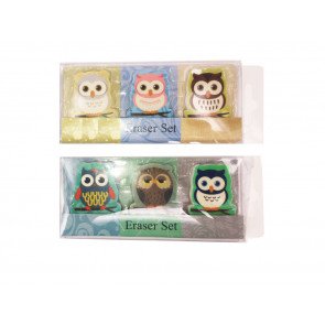 Kids Erasers | Cute Owls Eraser Sets For Party Bags & Class Gifts