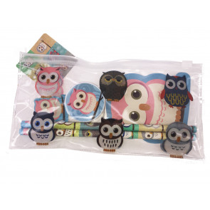 Owl Stationery | Great Value Filled Owl Pencil Cases with Owl Stationery