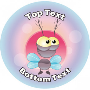 Personalised School Stickers | Flymania Alien! Design Custom Standard and Scented Stickers