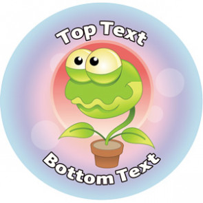 Personalised School Stickers | Plantmania Alien! Design Custom Standard and Scented Stickers
