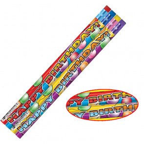 Kids Pencils | 12 Birthday Balloon Design Pencils