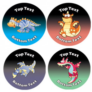 Personalised School Stickers | Dragon Dinosaur! Design Custom Standard and Scented Stickers