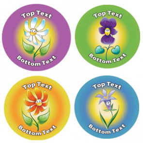 Personalised Children's Stickers | Fun Flower Designs to Customise for Teachers