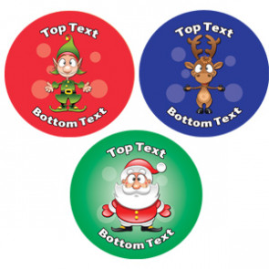 Personalised School Stickers | Christmas Fun! Design Custom Standard and Scented Stickers