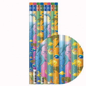 Teacher Gift & Prize Pencils | Under the Sea Design HB Pencils