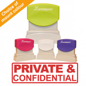 Office Stamps | Xstamper N10 Pre-inked Office Stamp - PRIVATE & CONFIDENTIAL