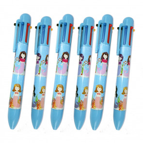 Class Gifts / Party Bag Fillers | Mystical Mermaids 6-Colour Pens