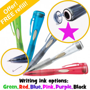 Stamper Pen | Clix Pen with Internal Stamp. Pink Star